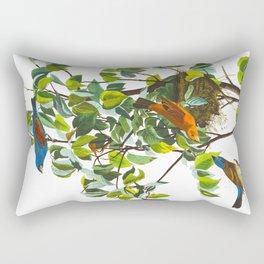 Blue Grosbeak Bird Rectangular Pillow