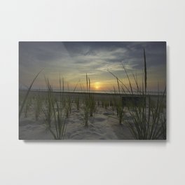 Sunrise Over the Dunes Metal Print
