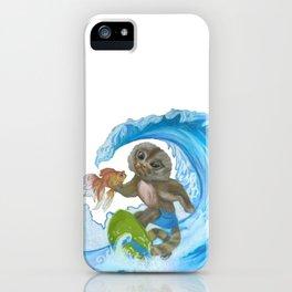 Pygmy Marmoset - Surfer - Superhero iPhone Case