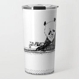 Panda in a tub. Travel Mug