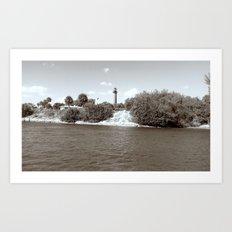 lighthouse shore Art Print