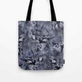 Abstract black blue pattern Tote Bag