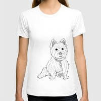 westie T-shirts featuring Westie Sketch by Circus Dog Industries
