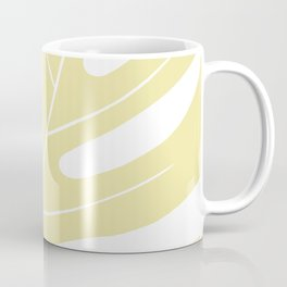Yellow monstera deliciousa illustration Coffee Mug