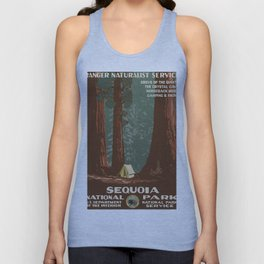 Vintage poster - Sequoia National ParkX Unisex Tank Top