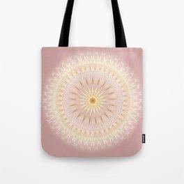 Gold Rose Mandala Tote Bag