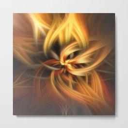 Twirling Flames Metal Print