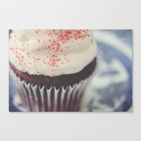cupcake Canvas Prints featuring cupcake by Beverly LeFevre