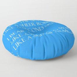 Summer air (blue) Floor Pillow