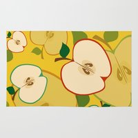 apple Area & Throw Rugs featuring apple by vitamin