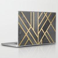 deco Laptop & iPad Skins featuring Art Deco Geometry 1 by Elisabeth Fredriksson
