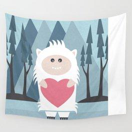 Little Yeti, Big Heart Wall Tapestry