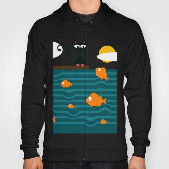 fishes and cat Hoody