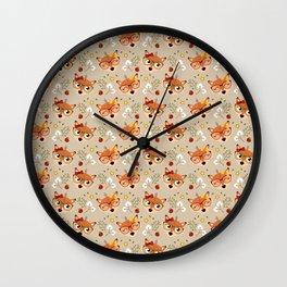 Motif renarde automnale Wall Clock