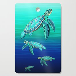 Sea Turtle Turquoise Oceanlife Cutting Board