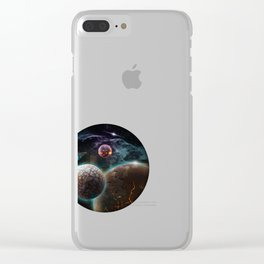 Deep Space Flare Clear iPhone Case