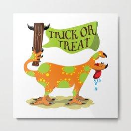 Hand Dog - Trick or Treat Metal Print