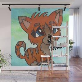 Tiger Kitten Wall Mural