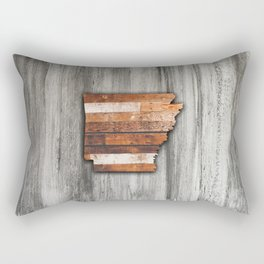 Rustic Arkansas Shape Rectangular Pillow