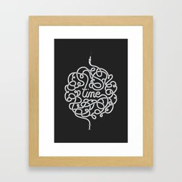 Time is a great healer Framed Art Print