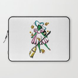 Green Galaxy Witchy Laptop Sleeve