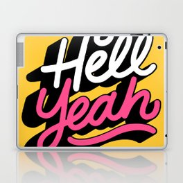 hell yeah 003 x typography Laptop & iPad Skin