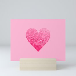 PINK PINK HEART Mini Art Print