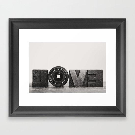 love is ... Framed Art Print