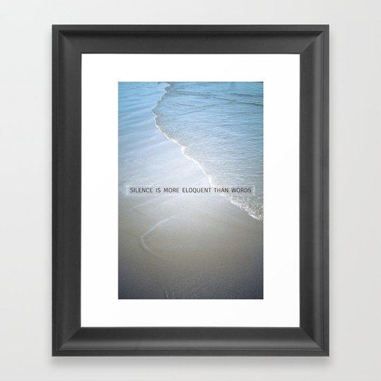Eloquence Framed Art Print
