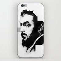 stanley kubrick iPhone & iPod Skins featuring STANLEY KUBRICK by A. Dee