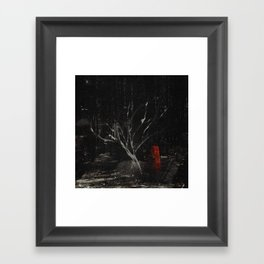 i am scarier than whatever is out here with me Framed Art Print