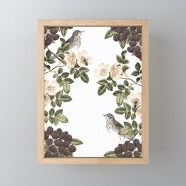 Blackberry Patch Framed Mini Art Print