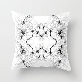 """ Air Hair"" by Richard schemmerer Vacancy Zine Throw Pillow"