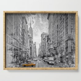 Graphic Art NEW YORK CITY 5th Avenue Serving Tray