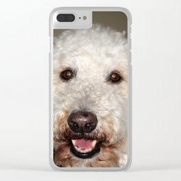 Jake The Labradoodle Clear iPhone Case