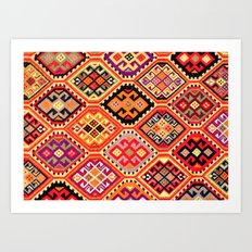greek carpet pattern Art Print