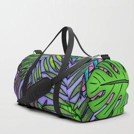 Palm & Monstera Leaves Duffle Bag
