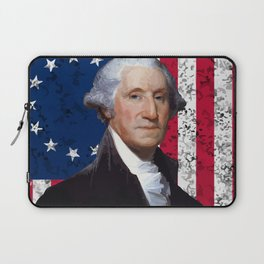 President George Washington and The American Flag Laptop Sleeve