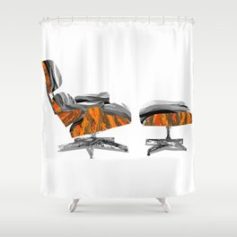 Eames Lounger Shower Curtain