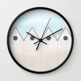 Simple Housing - love them all  Wall Clock