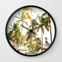 key west village Wall Clock