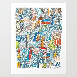 Offshore Wind Art Print
