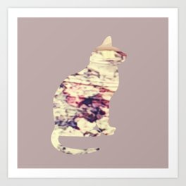 Chilled Cat Art Print