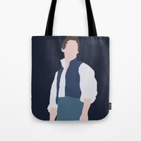 les miserables Tote Bags featuring Marius - Eddie Redmayne - Les Miserables - Minimalist design by Hrern1313