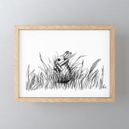 A Bunny. With a Sword. Framed Mini Art Print