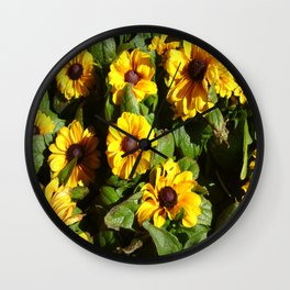 Yellow Daisy Patch Wall Clock