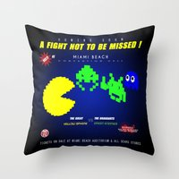 fight Throw Pillows featuring Fight ! by mauro mondin
