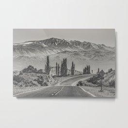 Deserted Landscape Highway, San Juan Province, Argentina Metal Print