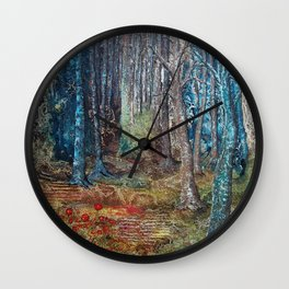 Deep in the forest by Ans Duin Wall Clock