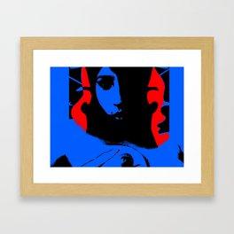 Blue Sky Red Hair Framed Art Print